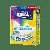 Emballage du produit Lingettes  anti-décoloration
