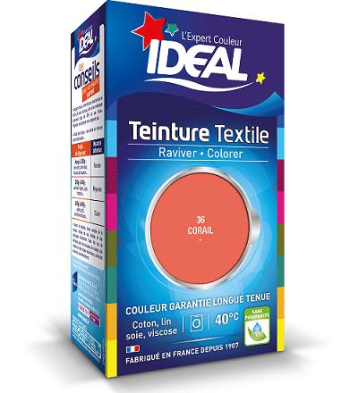 Teinture textile couleur corail