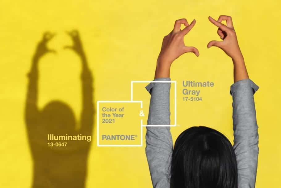 Gris et jaune : les couleurs de l'année 2021