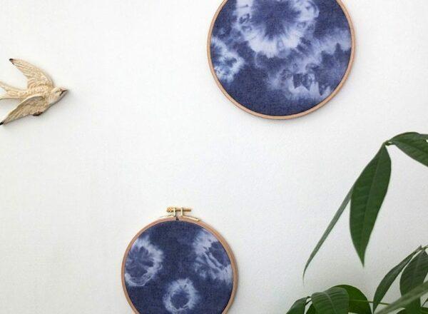 Décorez vos murs avec les cercles à broder Shibori